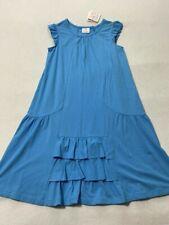 NWT Hanna Andersson 160 14 Light Blue Ruffle Dress Girls