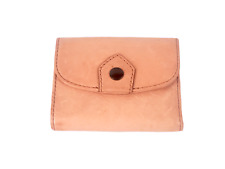 Frye Women Small Wallet Pocketbook Snap Pink Salmon Leather