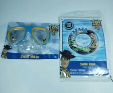 Toy Story 4 Pool Toy Set Swim Ring & Goggles Buzz Lightyear Woody