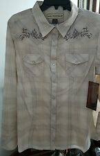 Bit & Bridle Women's Size Xl Long Sleeve snap Button Front Cowboy Shirt-Choice