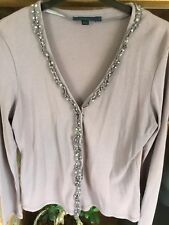 Pretty Lilac Boden Silk Trim Cardigan 14