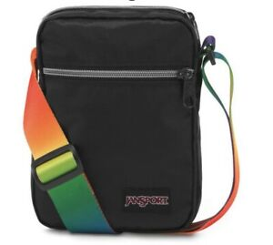 Jansport Weekender Rainbow Webbing LGBTQ Crossbody Festival Bag Unisex NEW