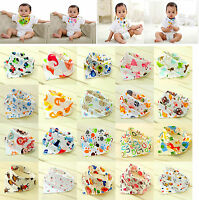 Cute Baby Bibs Saliva Towel Toddler Bandana Triangle Head Scarf Color random