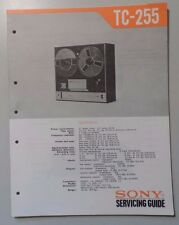 Sony Model TC-255 Reel-to-Reel Player  - Service Manual