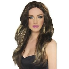 Womens Temptress Wig Brown Blonde Long Wavy Fancy Dress Model Glamour Celebrity