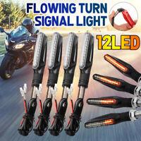 4PCS Moto 12 LED Freccia Indicatori Moto che Scorre Acqua Luce Set