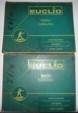 Euclid 6UOT YS-14 Tractor & 38SH Scraper Parts Catalogs Volumes 1 and 2 Original