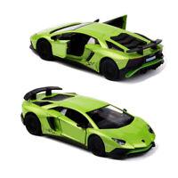1:36 Lamborghini Aventador LP750-4 SV Model Car Diecast Toy Vehicle Green Gift