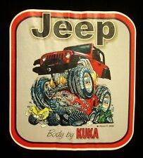 JEEP med T shirt Body By Kuka tee Chrysler Willys cartoon 2008 Toledo OHIO