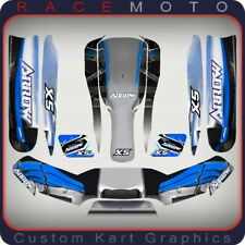 Sticker Kit for Arrow Kart Kg 505 Rotax Vortex Nosecone Nassau Panel & Side Pods