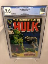 Incredible Hulk 104 CGC 7.0 OW/W Pages 1968 Rhino MARVEL COMIC Comics Silver Age