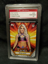 HOT! SEXY DIVA!  ALEXA BLISS 2019 SUMMER SLAM!  WWE RAW CARD EMC GRADED 10 MINT