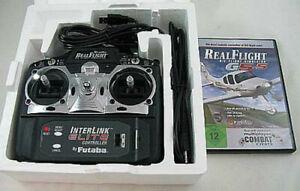 Real Flight Remote Control R/C Simulator G 5.5 W InterLink Elite Controller Used