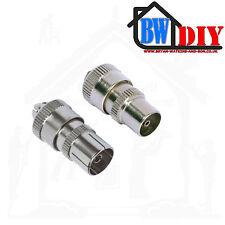 Male & Female RF TV Aerial Plugs Socket Coaxial Connectors TV Plugs