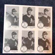 1984 CHONG MODESTO A'S 28 CARDS MARK McGWIRE RC 6 ERROR CARDS OAKLAND VERY RARE!