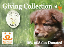 Save Puppy Dogs Tie Tack I Love Puppy Dogs Lapel Pin Mima Oly 10% Donated