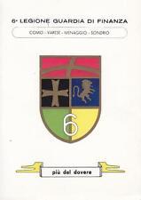 C2856) CARTOLINA, 6 LEGIONE GUARDIA DI FINANZA, COMO, VARESE, MENAGGIO, SONDRIO.