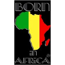 Serviette de plage Drap de bain Born in Africa Afrique beach towel coton