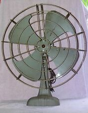 """AS FOUND VINTAGE HUGE 23"""" DOMINION 16"""" BLADE ELECTRIC FAN FOR PARTS OR REFURBISH"""