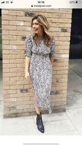 M&S Marks and Spencer LIMITED EDITION Animal Leopard Print Midi Dress Size 16