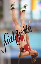 ATHLETICS: NICOLE BUCHLER SIGNED 6x4 ACTION PHOTO+COA *RIO 2016*