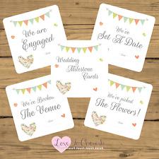 WEDDING Milestone / Journey Cards x20 - Shabby Chic Flower Heart-Engagement Gift
