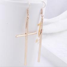 Dangle Punk Rock Gold Earrings Jewelry Women'S Large Vintage Style Of Cross