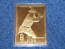 1996-03 DANBURY MINT 22K GOLD CARD FRED LYNN BOSTON RED SOX (E2)