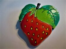 Large Strawberry Brooch 2X2-1/4 In.� �Jewelry Garage Sale!�Made In Germany