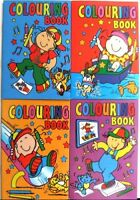 12 x Mini Assorted Colouring Activity Books Boys Girls A6 Party Bag Fillers