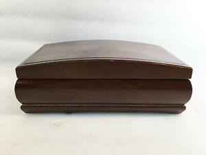 Wooden Jewelry Box w/Felt Lined Inside, Mirror & Insert
