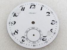 Original White Porcelain Dial (Watch-face) Doxa Antique 1900s Swiss Pocket Watch