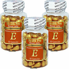 3 x Royal Jelly & Vitamin E Skin Oil 90 Capsule Gel FREE SHIP, FRESH Made In USA