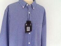 Austin reed shirt,long sleeve,blue check,med,lg,xl,new,rrp£60.00