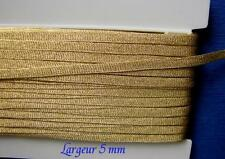GALON PASSEMENTERIE LACET Fil d'Or, AU METRE, larg 5 mm,  Louis Mathieu, LO5