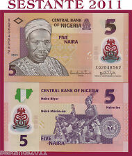 NIGERIA - 5 NAIRA POLYMER 2009 -  SIGN. 15,   P  38 - FDS / UNC