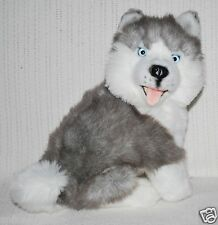 *NEW* BOCCHETTA - BUTTON SITTING SIBERIAN HUSKY PUPPY DOG SOFT PLUSH TOY 28cm