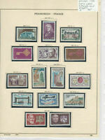 France 1968 MM+Used Stamps On 2 Pages Ref: R6811