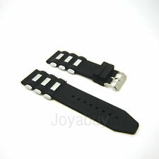 24mm Black Silicone Rubber Watch Band Wristwatch Strap for Invicta