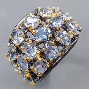 Jewelry Fine Art Blue Topaz Ring Silver 925 Sterling  Size 7 /R170530