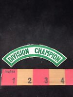 Green On White DIVISION CHAMPION Tab Patch 80WQ
