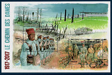 BLOC F5138 OU TIMBRES 5138-5139 NEUF XX - Chemin Des Dames - WW 1 - 1917-2017