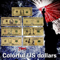 WR US Dollar Set 24K Gold Geldschein $1, 2, 5, 10, 20, 50, 100 Sammel-Banknote