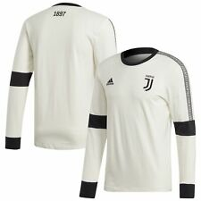 Juventus Football Seasonal Long Sleeve Mens Tee Top Shirt White