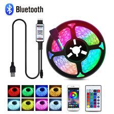 USB LED Strip Light 5050 RGB Color Changing Bluetooth APP Control + 24Key Remote