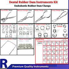 Dental Rubber Dam Instruments Kit Brinker Clamps Punch Forceps Frame Endo Lab