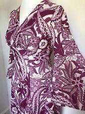 True Vintage 60s 70s maxi psychedelic dress mod festival boho size 8