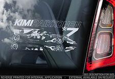 Kimi Raikkonen #7 - Car Window Sticker - Ferrari F1 Formula 1 Decal Iceman - V03