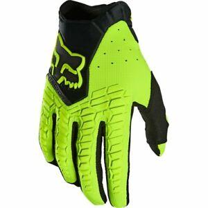 New 2022 Fox Pawtector Motocross Gloves Flo Yellow Hi-Vis Medium  21737-130-M