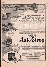 Reclame Pub Rasoir de Sureté Auto Strop Safety Razor Ltd Paris 1911 ILLUSTRATION